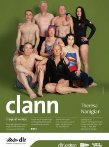 a poster with a group of male and female swimmers in their bathing suits